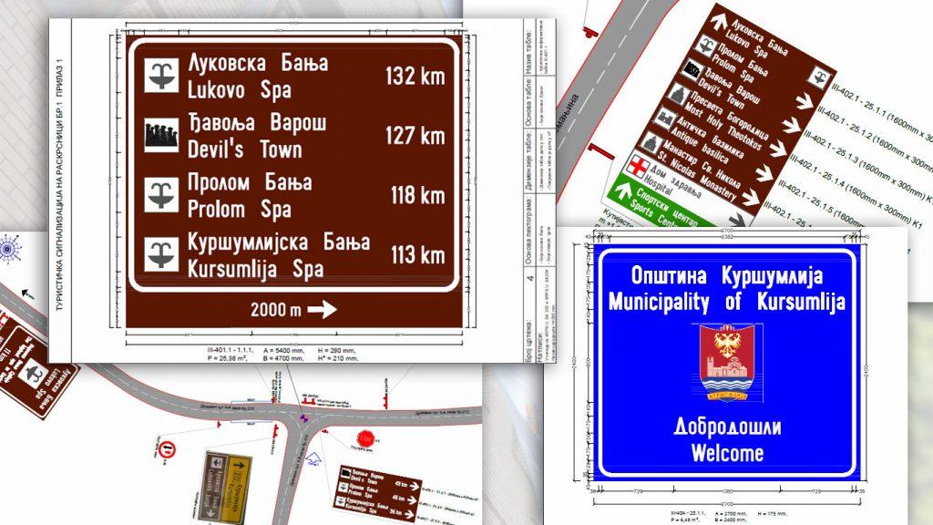 ТО Куршумлија реализује пројекат саобраћајно-туристичке сигнализације